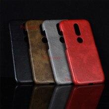 Dla Nokia 4.2 TA 1157 Case Hard PC skórzany futerał na telefon Nokia 4.2 TA-1157 TA-1150 TA-1133 TA-1149 TA-1152 obudowa na telefon