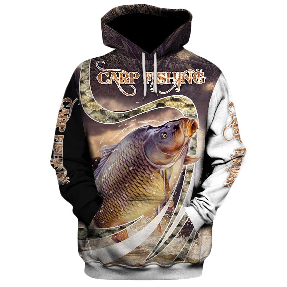 Carp Fishing 3D Hoodies Printed Pullover Men For Women Funny Animal Sweatshirts Fashion Cosplay Apparel Sweater 02