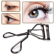 1PC Metal Eyelash Curlers Silicone Natural Lasting Curling Eyelash Curler Eyelash Tweezers For Women