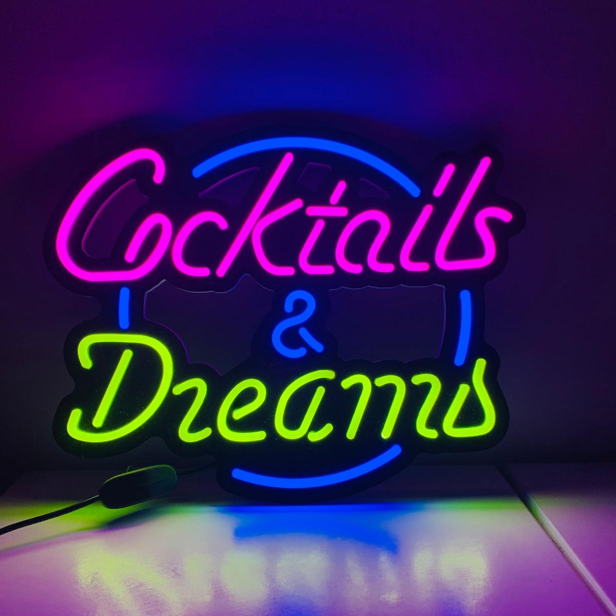 Custom led neon lights, handmade beer bar, store logo, bar, nightclub enlarge