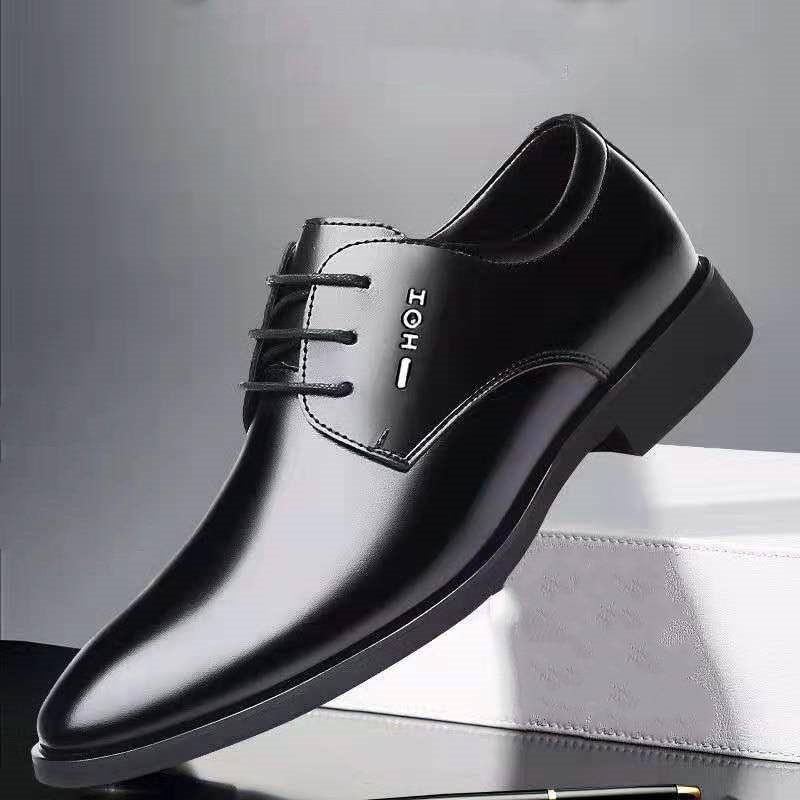 Mazefeng Classic Business Men Dress Shoes Fashion Elegant Formal Wedding Shoes Men Slip on Office Oxford Shoes for Men 2020 New