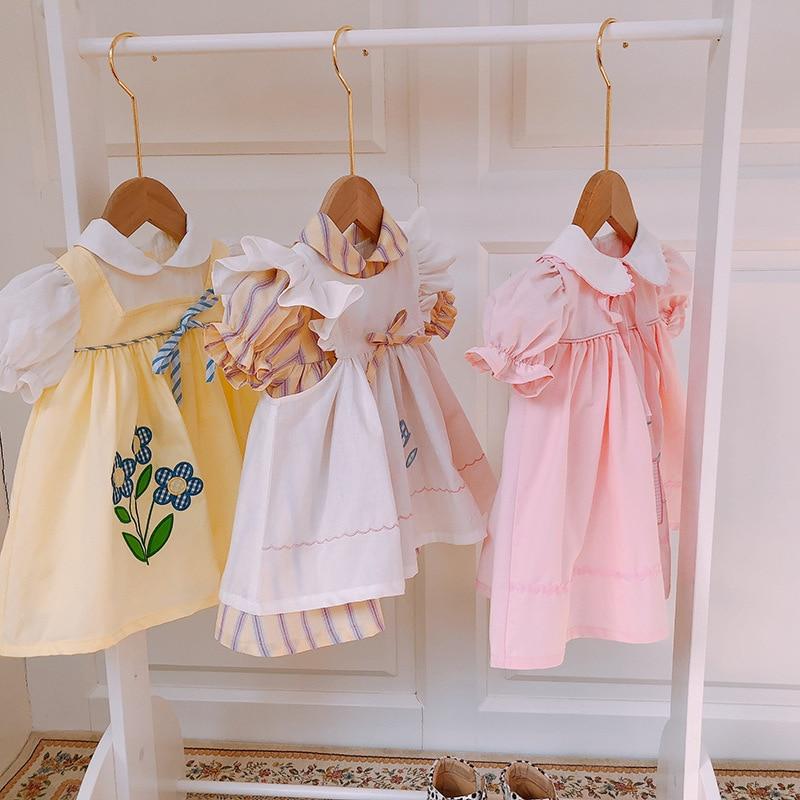 2020 Summer New VTG Children's Dress Children's Lolita Dress Baby Dress Doll Dress Baby Girls Party Wedding Holiday Dress