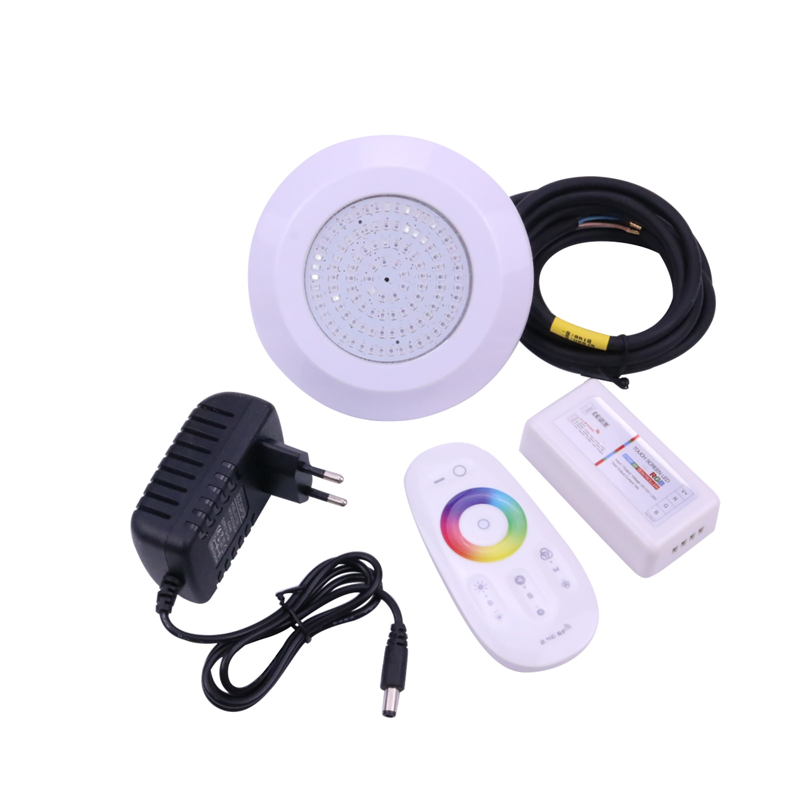 RGB LED Pool Light Mini 130 * 15mm PC Material DC 12V 10W LED Pond Light IP68 Underwater Lamp with Remote Controller enlarge