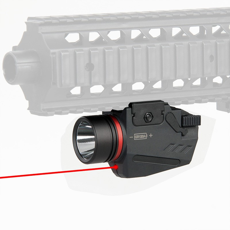 WIPSON Tactical Hunting Red Laser Sight 150 Lumen LED Flashlight Integrated Combo Nylon Material For