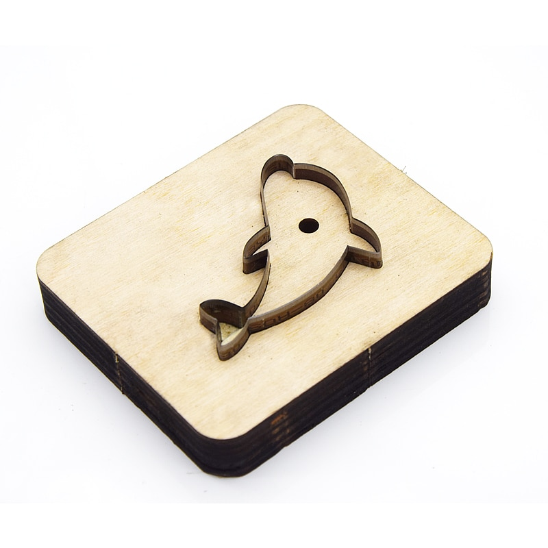 Knife Mold Dolphin-shaped Wooden Die Cutting Leather Mold Suitable For Die Cutting Machine