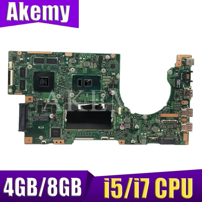 إكسينكاي لASUS K501U K501UX K501UB A501U أجهزة الكمبيوتر المحمول اللوحة الرئيسية مجلس W / 4GB / 8GB i5 و / I7 CPU DDR3 ذاكرة فتحة ل
