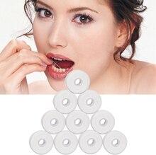 10 rouleaux de fil dentaire 50m hygiène bucco-dentaire cire de nettoyage des dents bobine de fil dentaire aromatisée à la menthe cure-dents dents dents propres