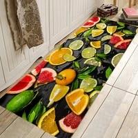 fresh fruit juice pattern hallway carpets kitchen entrance door mat anti slip floor rug bathroom area hallway free shipping