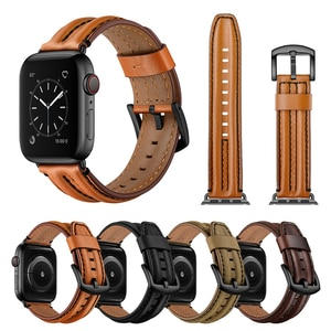 New Watchbands For Apple Watch Bands 38mm 40mm 42mm 44mm Real Leather Bracelet Belt Apple iWatch Strap Series 2 3 4 5 Wristband