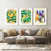 fruit lemon orange prints posters plants flowers canvas painting wall art pictures for dining room modern nature home decor