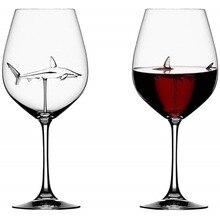 Kristall Party Hochzeit Flöten Glas Wein Gläser Tasse Shark Innen Wein Flasche Hand Geblasen Wein Gläser