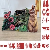 rabbit boots flower oil lamp metal cutting die scrapbook embossed paper card album craft template cut die stencils new for 2021
