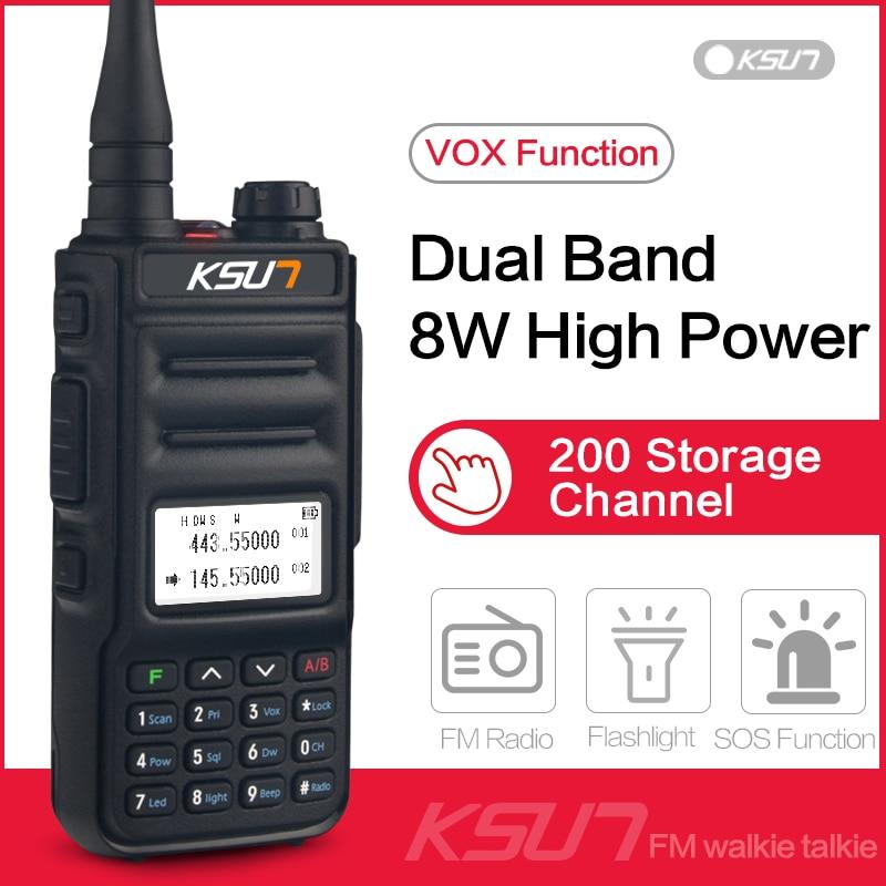 Walkie Talkie Long Range VHF UHF Dual Band Two Way Radio Station VOX Communicator Transceiver 1 OR 2PCS Walkie-talkie KSUN UV2D
