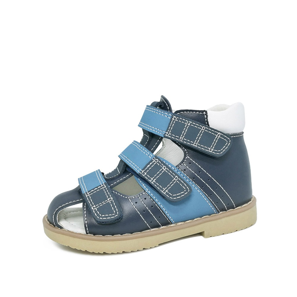Boys Leather Sandals Children Orthopedic School Shoes For Kids Baby Fashionable Open-Toe Summer Walk