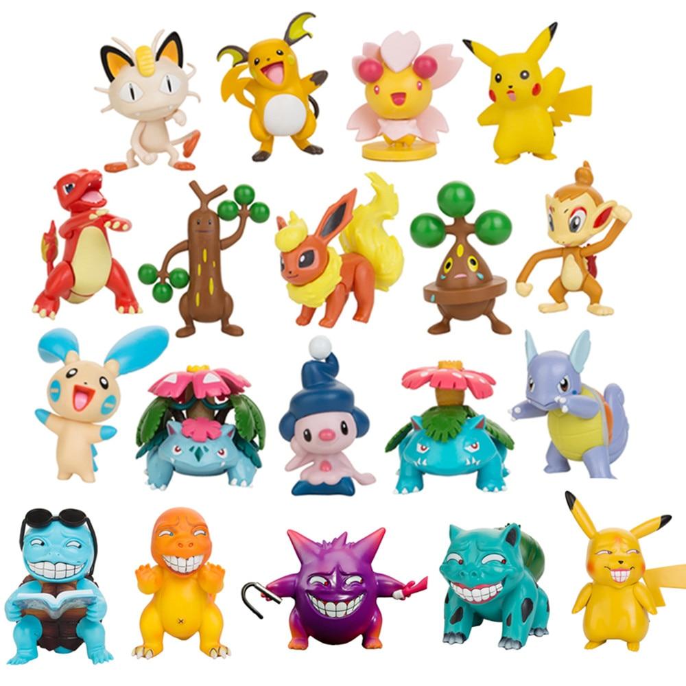 6 8cm pokemon figures dolls collection pikachu cartoon pokémon series anime model ornaments toys kids birthday gift Pokemon toys Figures Dolls Collection Pikachu Cartoon Pokemon Series Anime Model Ornaments Toys Kids Birthday Gift