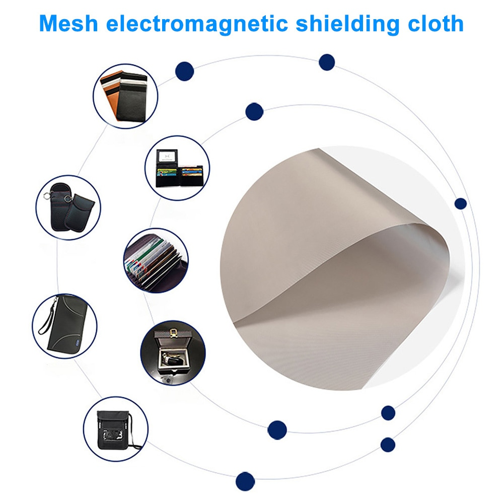 Bloqueo de señal de cobre y níquel Pet tela de protección EMF conductora radiación de oficina teléfono celular Anti magnético blindaje Rfid hogar
