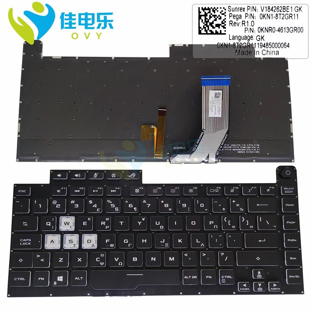 RGB GK اليونانية لوحة المفاتيح الخلفية لأسوس ROG GL531G GL531GW GV Strix سكار III G531 الألعاب لوحات المفاتيح الكريستال المفاتيح 0KN1 8T2GR11