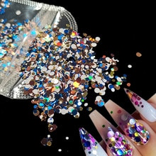 1Bag Ultrathin Sequins Nail Art Glitter Mini Paillette Colorful Round 3d Nail Decorations Mixed Size