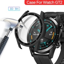 Protective Case for Huawei Watch GT 2 46mm/42mm Accessories Full Coverage Bumper Screen Tempered Pro
