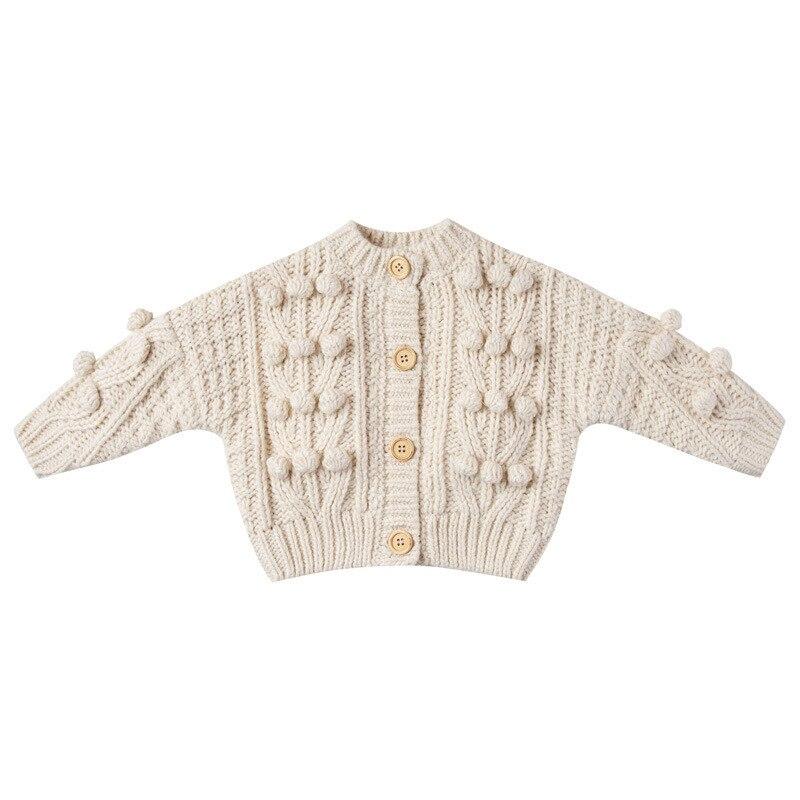 Купить с кэшбэком Newborn Baby Girl Sweaters Toddler Knitted Cardigan 2021 Baby Cotton Knit Wear Spring Knitting Coat Vintage Child Kids Clothes