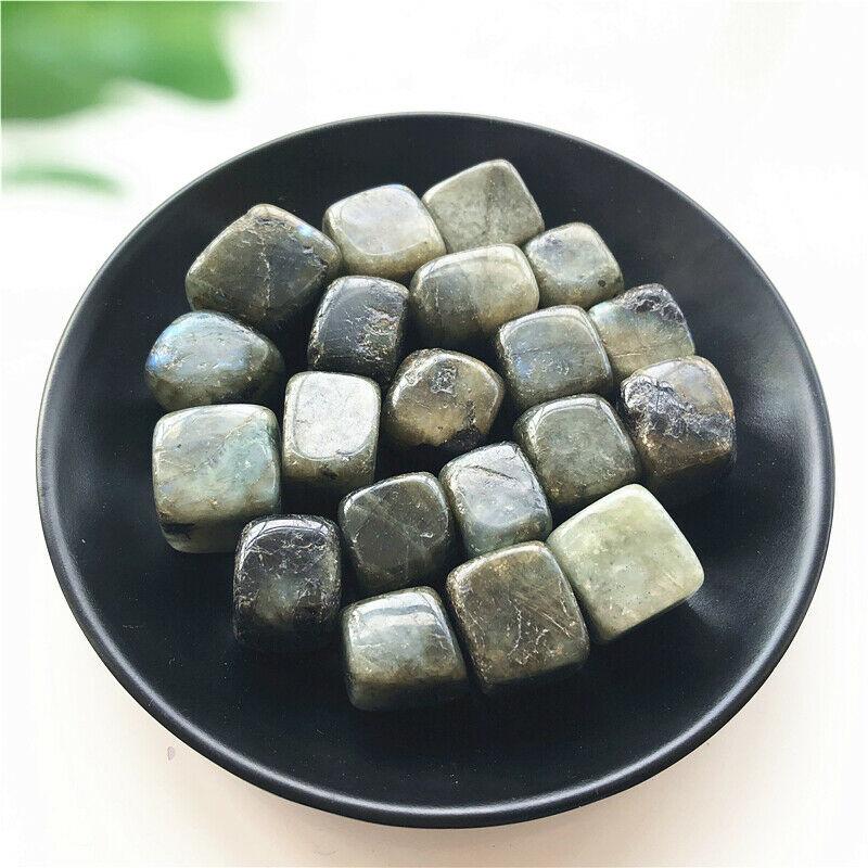 100g Cubo de labradorita Natural piedra gris piedra de piedra lunar piedra de roca piedras de cristal piedras naturales y minerales