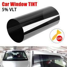 Film solaire pour voiture   Pare-brise en noir, transparent, anti-uv, 20cm * 150cm