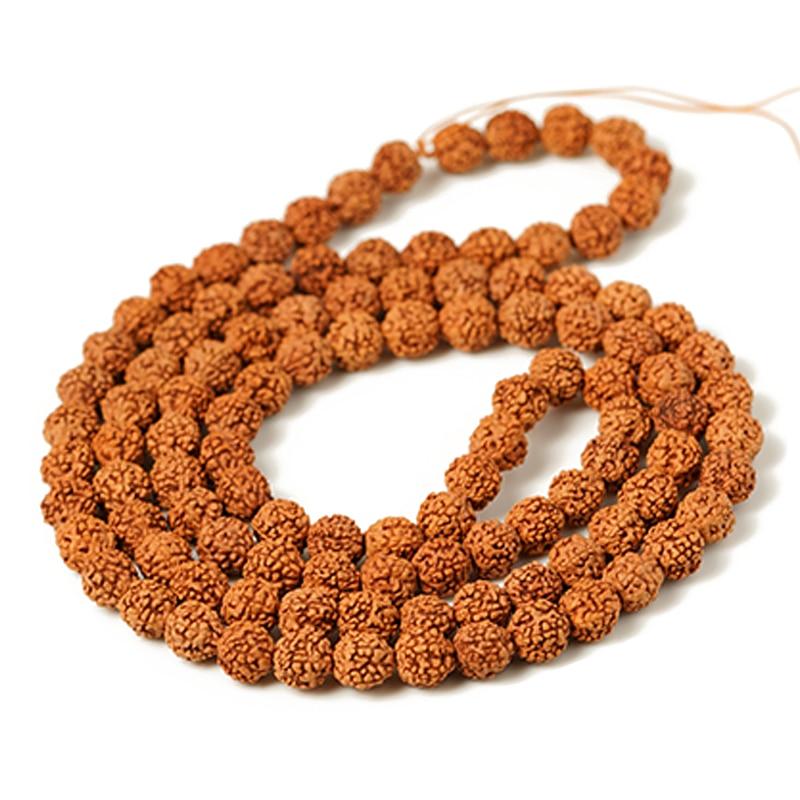 AliExpress - Natural Mala Rudraksha 108 Beads 5/7/9mm Prayer Buddhist for Necklaces Meditation Practice Jewelry Making Bracelet Accessories