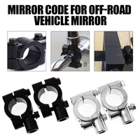 2pcs motorcycle mirror mount clamp bike handlebar rear view mirror durable holder adapter brackets for electromobile 8mm 10mm