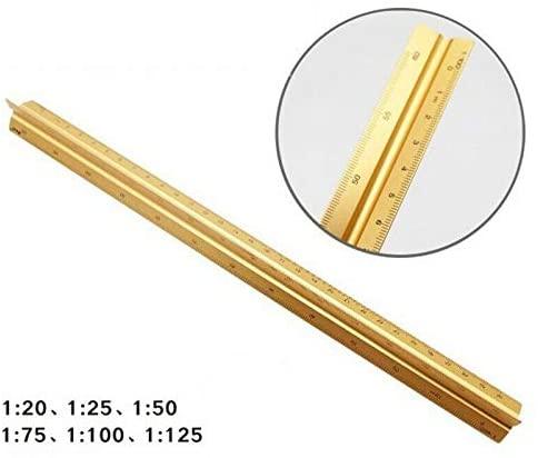 Треугольные весы правило 30 см 6 шкал алюминиевая пластиковая линейка шкала для