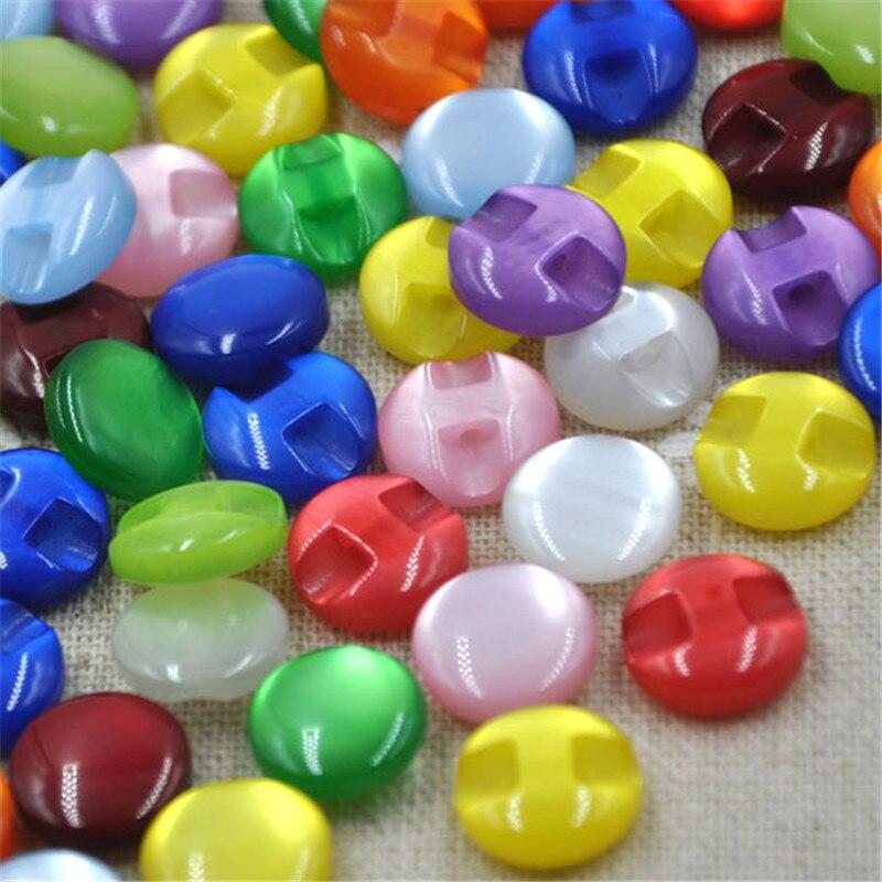 De botones de resina de colores variados de 12mm, botones de perlas, accesorios de costura para manualidades DIY PT82 100 Uds.