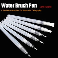 6pcsset portable paint brush water color brush pencil soft watercolor brush pen for beginner painting drawing art supplies