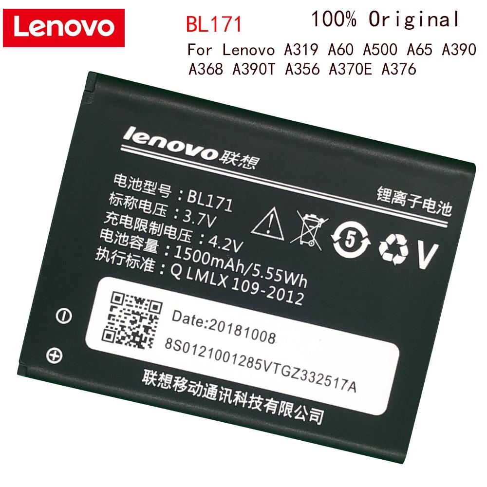 Orijinal Lenovo telefon pil BL171 Lenovo A319 A356 A368 A370E A376 A390 A390T şarj edilebilir telefon yedek pil