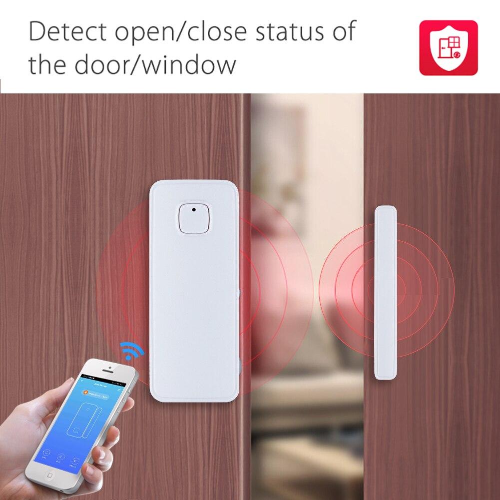 Detecteur de porte fenetre intelligent WiFi  Notification  alertes  alarme de securite domestique  Compatible avec Alexa Google Home