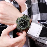 synoke sports mens watches military watch waterproof luminous alarm electronic clock camouflage digital watch relojes