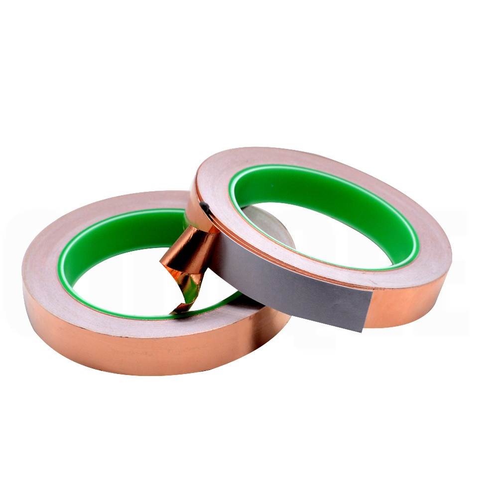 20M 3 Mm-40 Mm 16 Mm 7 Mm Dubbele Geleiding Koperfolie Tape Zuiver Koper Geleidende Lijm tape Shield Tape Enkelzijdig Lijm Solderen