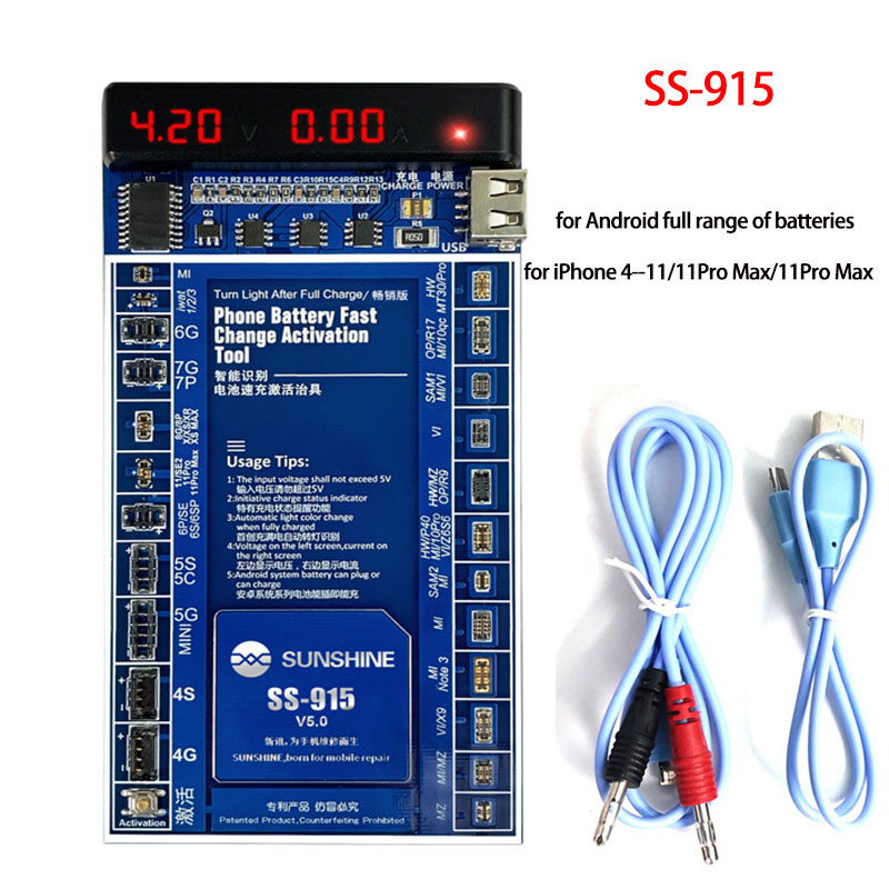 SS-915 البطارية السريع شحن تفعيل مجلس اختبار لاعبا اساسيا ل فون 4- X 11 برو ماكس لهواوي XIAOMI مجموعة كاملة من الروبوت