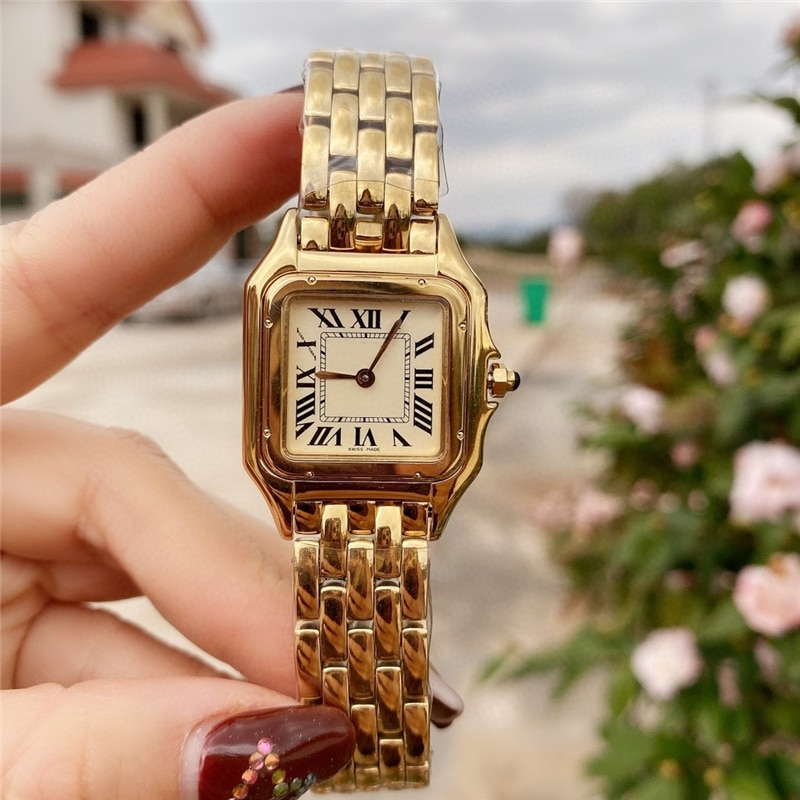brand C watches thin watch 316L stainless case import movement high quality cheetah quartz gold watch for office female gift