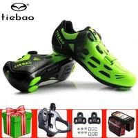 tiebao men road cycling shoes 2021 green sapatilha ciclismo self locking sneakers women bike triathlo bicycle riding bicicleta