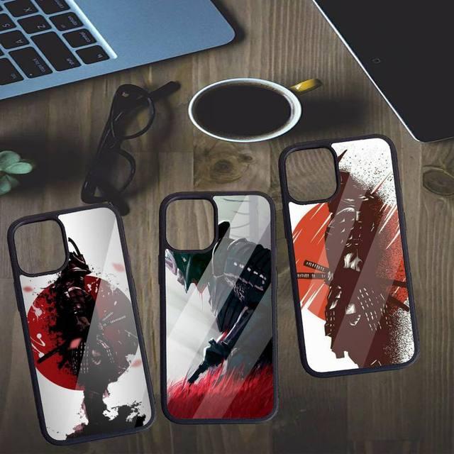 Японская Маска самурая oni чехол для телефона ПК для iPhone 11 12 pro XS MAX 8 7 6 6S Plus X 5S SE 2020 XR