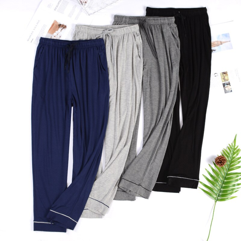 Casual Trousers For Men Modal Pants Sleepwear Lounge Wear Summer New Sleep Pants Lingerie Large Size