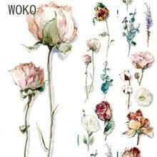 35 мм широкий винтажный цветочный аромат одна лента для декорации Washi DIY планировщик дневник Скрапбукинг маскирующая лента Escolar