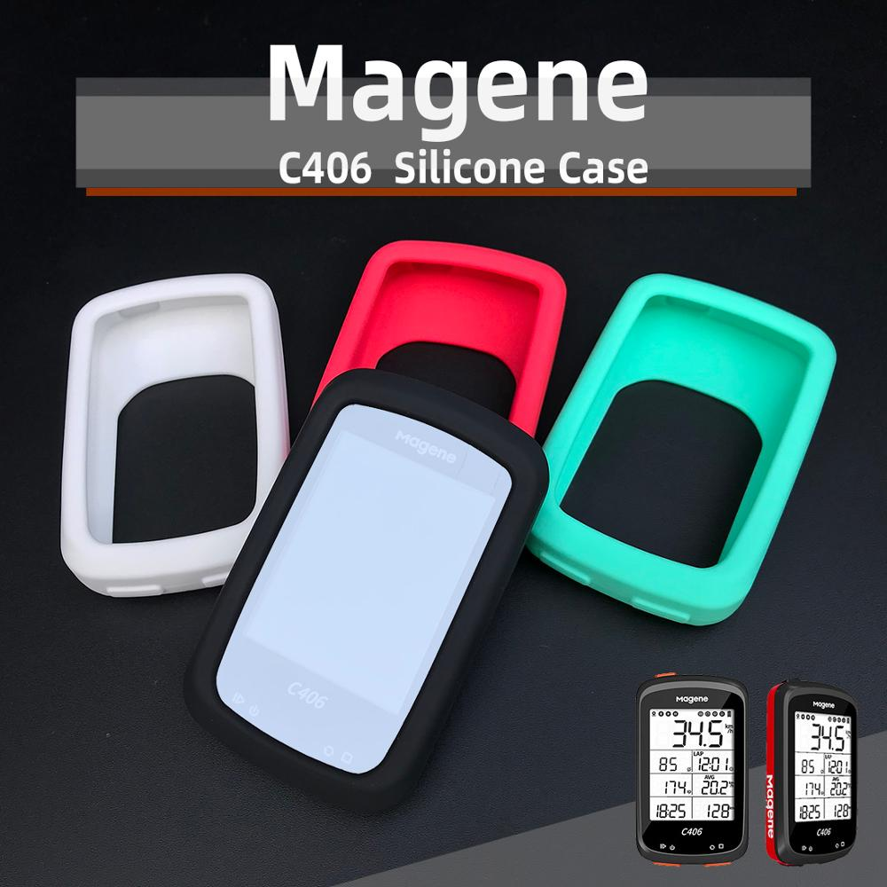 Magene C406 Protective Case  GPS  Computer Silicone Cover Protection Screen Film (Does Not Include GPS computer)