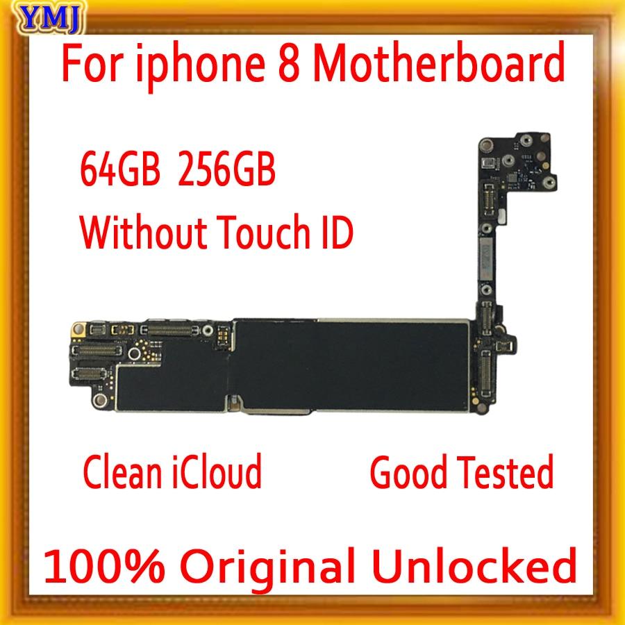 Placa base gratis iCloud para iPhone 8 con Touch ID/sin Touch ID, placa base Original desbloqueada para iphone 8 con Chips completos