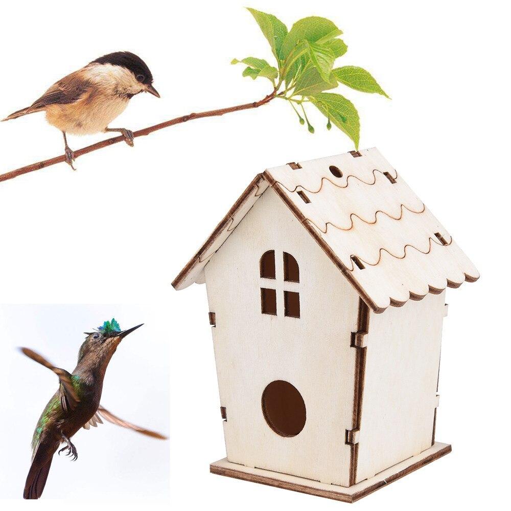 1pc Nest Haus Vogel Dox Holz Vogel Haus Nest Haus Holz Vogel Haus Kreative Wand-montiert Outdoor Vogelhaus holz Box