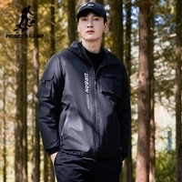pioneer camp 2020 winter mens parkas outdoor windproof warm casual fashion black zipper jackets male xmf023126