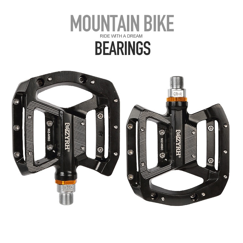 Pedal de bicicleta CNC cuerpo de aluminio Cr-Mo mecanizado 9/16 husillo de rosca 3 plataforma de rodamientos Ultra sellados
