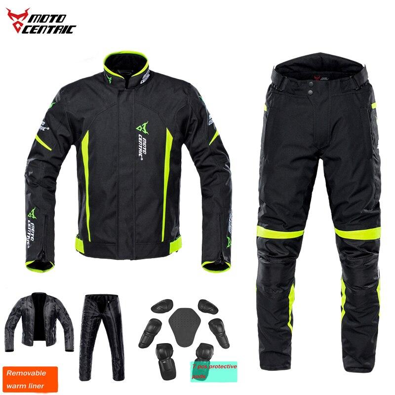 Motocentric wodoodporna kurtka i spodnie Moto przekładnia motocyklowa ochrona oddychająca utrzymać ciepło odblaskowe Chaqueta Moto Verano M ~ 3XL