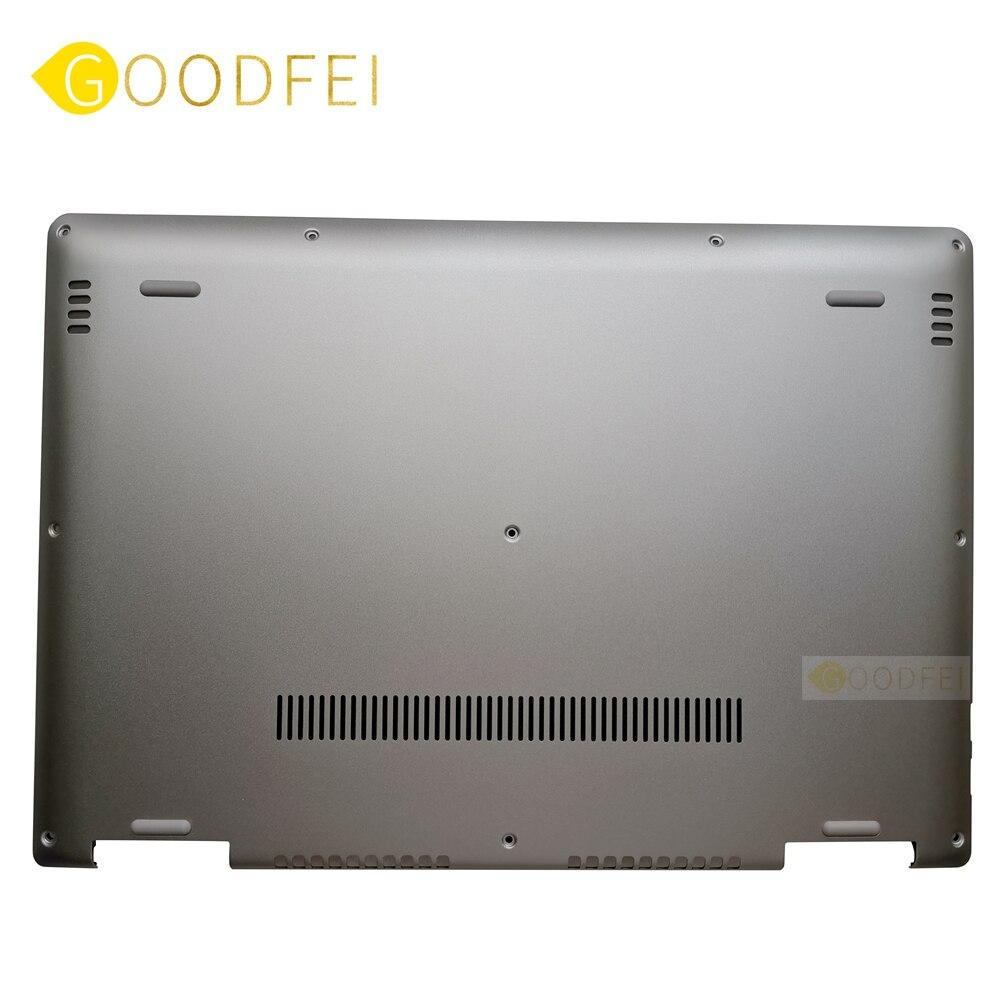 غطاء كمبيوتر محمول بقاعدة D سفلية ، غطاء سفلي لجهاز Lenovo Yoga 710-14ISK 710-14IKB 710-14 ، فضي ، 5CB0L47341 AM1JH000430