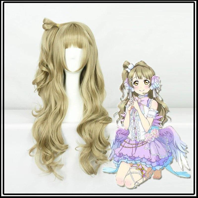 Lovelive Kotori Minami длинные волнистые косплей парик синтетические волосы Хэллоуин карнавальные вечерние парики + парик