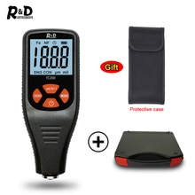 R & D TC200 + Case Laagdiktemeter 0.1 Micron/0-1500 Auto Verf Laagdikte Tester fe/Nfe Russische Handleiding Auto Boady Reparatie